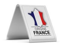 Σημάδι της Γαλλίας προέλευσης Στοκ Εικόνες