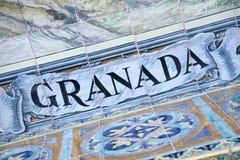Σημάδι της Γρανάδας, Plaza de Espana Building, Σεβίλη Στοκ Εικόνες