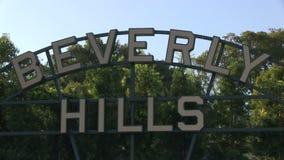 Σημάδι της Beverly Hils απόθεμα βίντεο