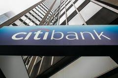 Σημάδι της Citibank Στοκ Φωτογραφίες