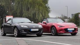 Σημάδι 3 & 4 της Mazda MX5 στοκ εικόνα