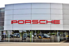 Σημάδι της Porsche Στοκ εικόνες με δικαίωμα ελεύθερης χρήσης