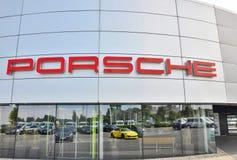 Σημάδι της Porsche Στοκ φωτογραφία με δικαίωμα ελεύθερης χρήσης
