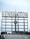 Σημάδι Τορόντο αγοράς Kensington Στοκ Εικόνες
