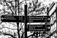 Σημάδι του Άμστερνταμ Στοκ Φωτογραφίες