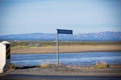 Σημάδι του ισλανδικού ποταμού Jokulsa ένα Fjollum Στοκ φωτογραφία με δικαίωμα ελεύθερης χρήσης