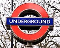 σημάδι του Λονδίνου υπόγ&e Στοκ Εικόνα