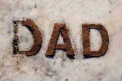 Σημάδι του μπαμπά στο μάρμαρο Στοκ εικόνες με δικαίωμα ελεύθερης χρήσης
