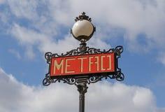 σημάδι του Παρισιού μετρό Στοκ φωτογραφίες με δικαίωμα ελεύθερης χρήσης