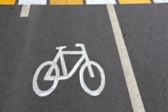 Σημάδι του ποδηλάτου Στοκ Φωτογραφία