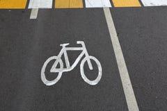 Σημάδι του ποδηλάτου Στοκ Εικόνες