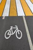 Σημάδι του ποδηλάτου Στοκ εικόνα με δικαίωμα ελεύθερης χρήσης