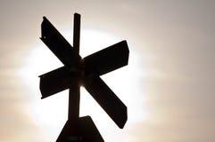 Σημάδι του σταυρού Στοκ Εικόνες