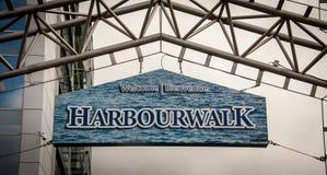 Σημάδι του Χάλιφαξ harbourwalk Στοκ εικόνες με δικαίωμα ελεύθερης χρήσης
