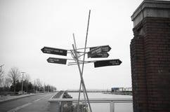 Σημάδι τρόπων του Μπρούκλιν Στοκ εικόνες με δικαίωμα ελεύθερης χρήσης