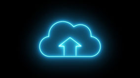 Σημάδι υπηρεσιών σύννεφων απόθεμα βίντεο