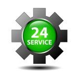 σημάδι υπηρεσιών 24 ώρας Στοκ εικόνες με δικαίωμα ελεύθερης χρήσης