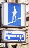Σημάδι υπογείων Στοκ Φωτογραφίες