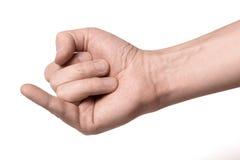 Σημάδι υπόσχεσης, που απομονώνεται στο άσπρο υπόβαθρο στοκ φωτογραφία με δικαίωμα ελεύθερης χρήσης