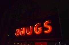 Σημάδι φαρμάκων φαρμακείων Στοκ Εικόνες
