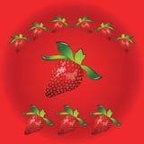 Σημάδι φραουλών απεικόνιση αποθεμάτων