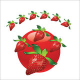 Σημάδι φραουλών ελεύθερη απεικόνιση δικαιώματος