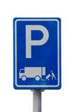 Σημάδι φόρτωσης και εκφόρτωσης Στοκ φωτογραφία με δικαίωμα ελεύθερης χρήσης