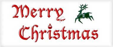 Σημάδι Χαρούμενα Χριστούγεννας Στοκ Εικόνες