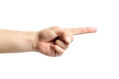 Σημάδι χεριών ατόμων που απομονώνεται στο άσπρο υπόβαθρο σημεία δάχτυλων Στοκ Εικόνα