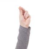 Σημάδι χεριών ατόμων που απομονώνεται Στοκ φωτογραφία με δικαίωμα ελεύθερης χρήσης