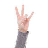 Σημάδι χεριών ατόμων που απομονώνεται Στοκ φωτογραφίες με δικαίωμα ελεύθερης χρήσης