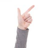 Σημάδι χεριών ατόμων που απομονώνεται Στοκ Φωτογραφίες
