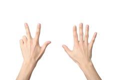 Σημάδι χεριών του αριθμού οκτώ Στοκ φωτογραφίες με δικαίωμα ελεύθερης χρήσης