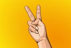 Σημάδι χεριών Στοκ Εικόνα