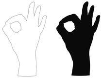 Σημάδι χεριών Στοκ εικόνες με δικαίωμα ελεύθερης χρήσης