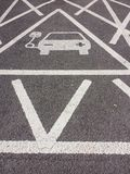Σημάδι χρέωσης ηλεκτρικής ενέργειας οχημάτων Στοκ Εικόνες