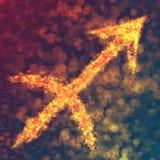 Σημάδι ωροσκοπίων Sagittarius Στοκ εικόνα με δικαίωμα ελεύθερης χρήσης