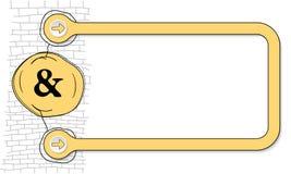Σημάδι Ampersand απεικόνιση αποθεμάτων