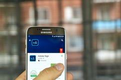 Σημάδι app πλίθας Στοκ Εικόνες