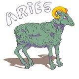 Σημάδι Aries που χρωματίζεται Στοκ Εικόνα