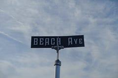 Σημάδι Ave παραλιών στο ακρωτήριο Μάιος Στοκ εικόνες με δικαίωμα ελεύθερης χρήσης