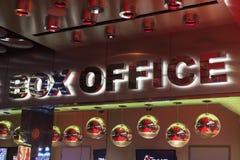Σημάδι box office στον αντικατοπτρισμό στο Λας Βέγκας, NV στις 11 Αυγούστου, 201 Στοκ φωτογραφίες με δικαίωμα ελεύθερης χρήσης