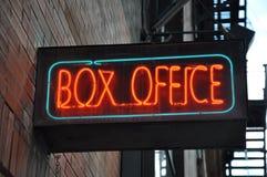 Σημάδι box office Στοκ Εικόνα