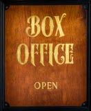 Σημάδι box office Στοκ φωτογραφία με δικαίωμα ελεύθερης χρήσης