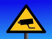 σημάδι CCTV φωτογραφικών μηχαν Στοκ φωτογραφία με δικαίωμα ελεύθερης χρήσης