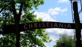 Σημάδι Christiania Στοκ Εικόνα