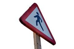Σημάδι Crosswallk Στοκ φωτογραφία με δικαίωμα ελεύθερης χρήσης