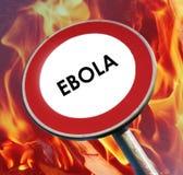 Σημάδι Ebola στάσεων Στοκ Φωτογραφία