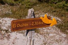 Σημάδι EL Chalten στοκ εικόνα με δικαίωμα ελεύθερης χρήσης