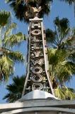 Σημάδι Hollywood του περιπάτου της φήμης Στοκ φωτογραφία με δικαίωμα ελεύθερης χρήσης
